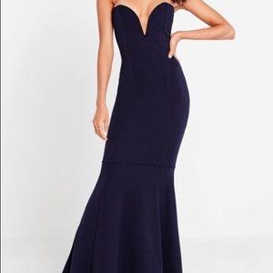 NWT Missguided fishtail strapless maxi dress